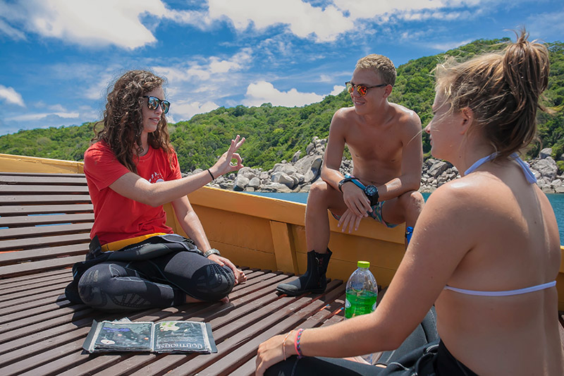 PADI Divemasters Giving Dive Briefings