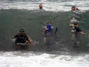 Rough Scuba Diving Conditions