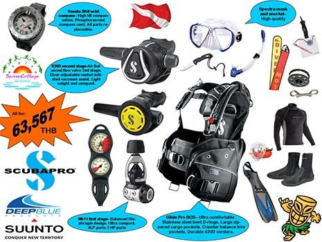 Best Dive Equipment Package for Divemaster and Diving Instructor Gold