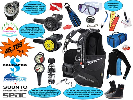 Best Dive Equipment Package for Divemaster and Diving Instructor Silver